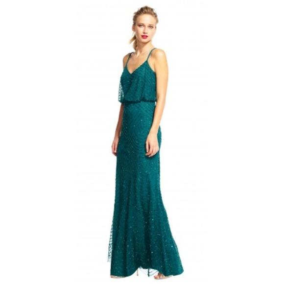 Adrianna Papell Dresses | Addriana Papell Art Deco Beaded Blouson ...